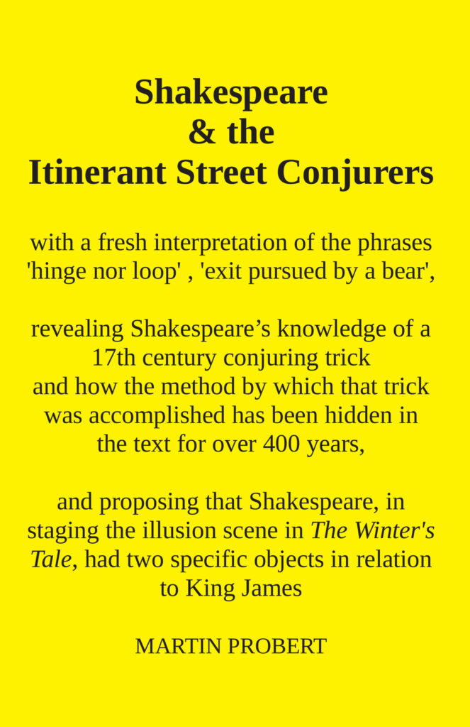 Martin Probert: Shakespeare & the Itinerant Street Conjurers (2020)